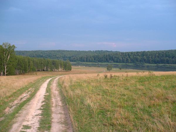 Сельская дорога, райские места